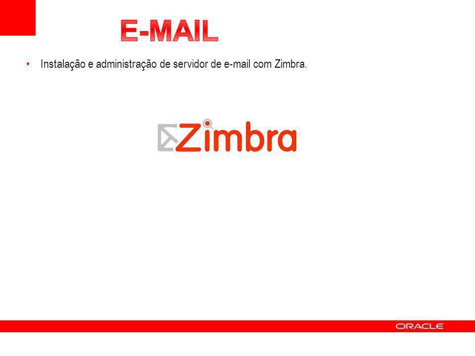 Instalação e administração de servidor de e-mail com Zimbra.