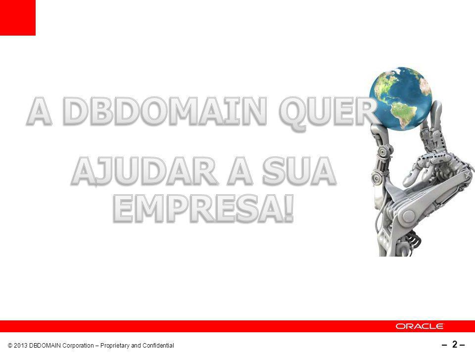 © 2013 DBDomain Corporation – Proprietary and Confidential – 3 – Como a tecnologia pode ajudar a sua empresa...
