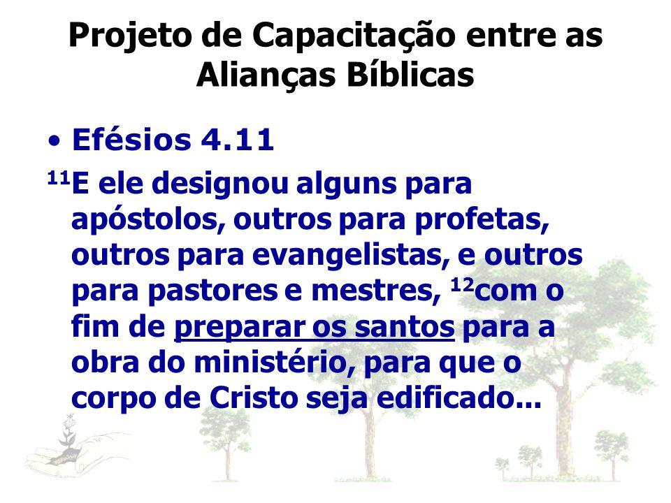 Efésios 4.11 11 E ele designou alguns para apóstolos, outros para profetas, outros para evangelistas, e outros para pastores e mestres, 12 com o fim d