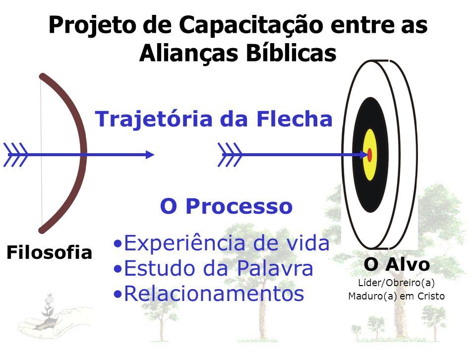 O Alvo Líder/Obreiro(a) Maduro(a) em Cristo Filosofia O Processo Experiência de vida Estudo da Palavra Relacionamentos Trajetória da Flecha Projeto de