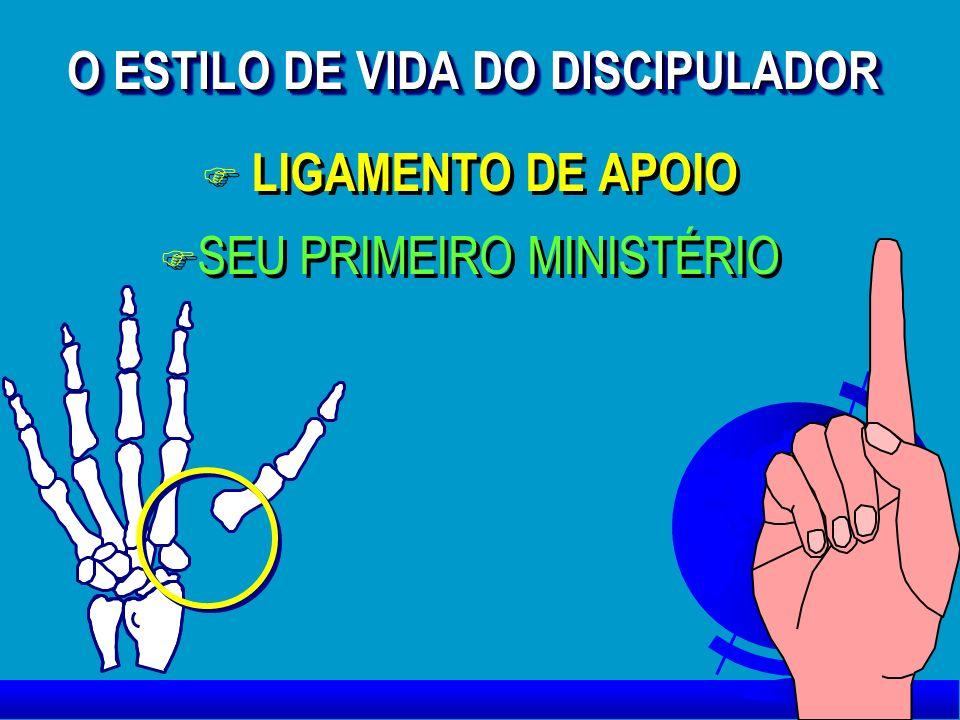 O ESTILO DE VIDA DO DISCIPULADOR F LIGAMENTO DE APOIO F SEU PRIMEIRO MINISTÉRIO F LIGAMENTO DE APOIO F SEU PRIMEIRO MINISTÉRIO