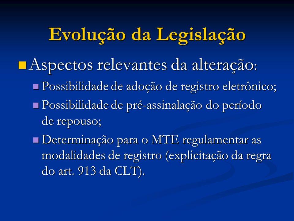 Aspectos relevantes da alteração : Aspectos relevantes da alteração : Possibilidade de adoção de registro eletrônico; Possibilidade de adoção de regis