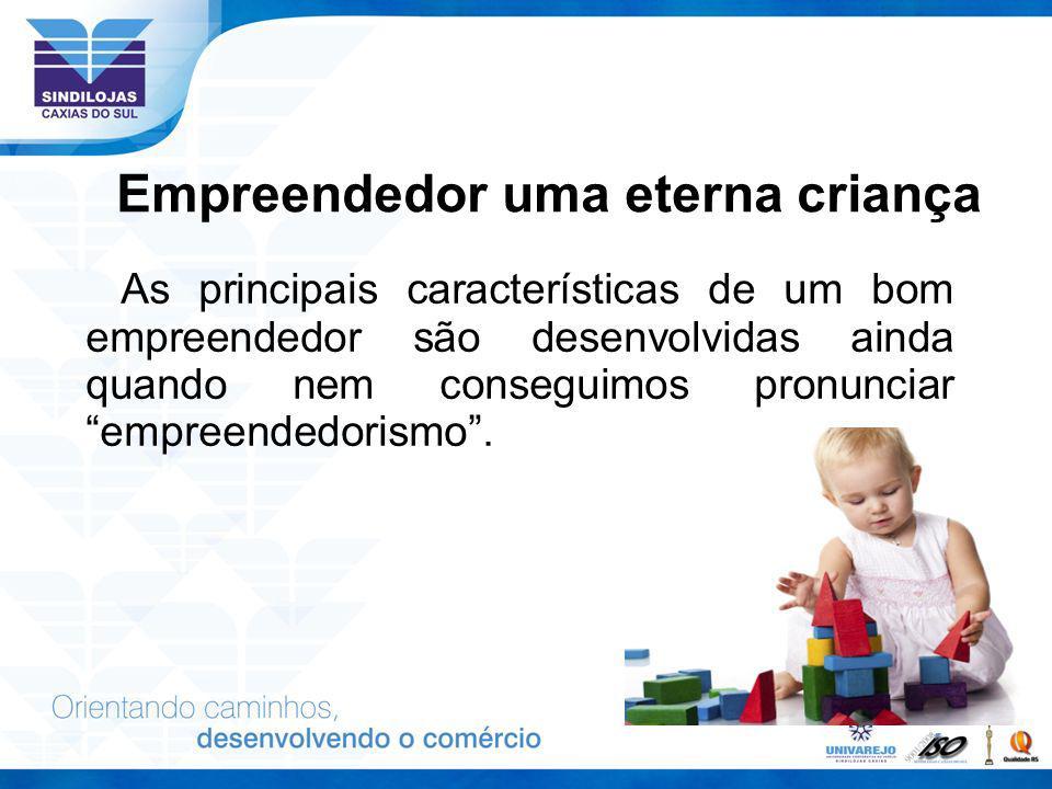 Empreendedor uma eterna criança As principais características de um bom empreendedor são desenvolvidas ainda quando nem conseguimos pronunciar empreen