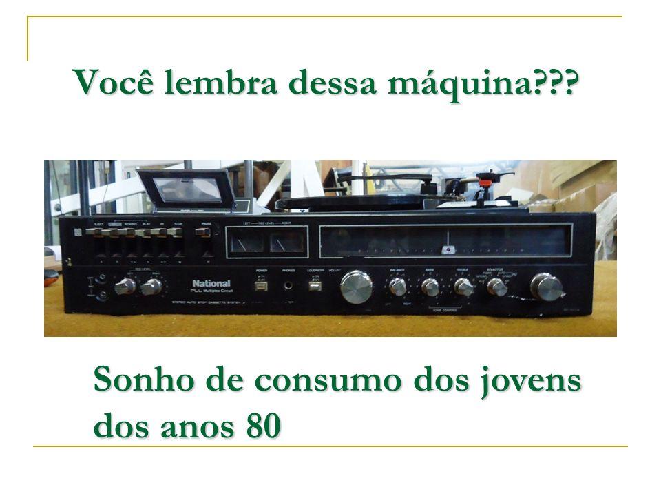 Você lembra dessa máquina??? Sonho de consumo dos jovens dos anos 80