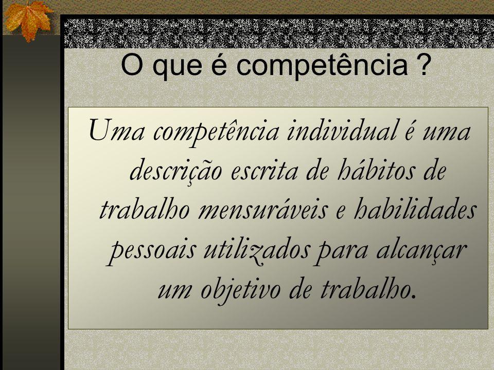 O que é competência .