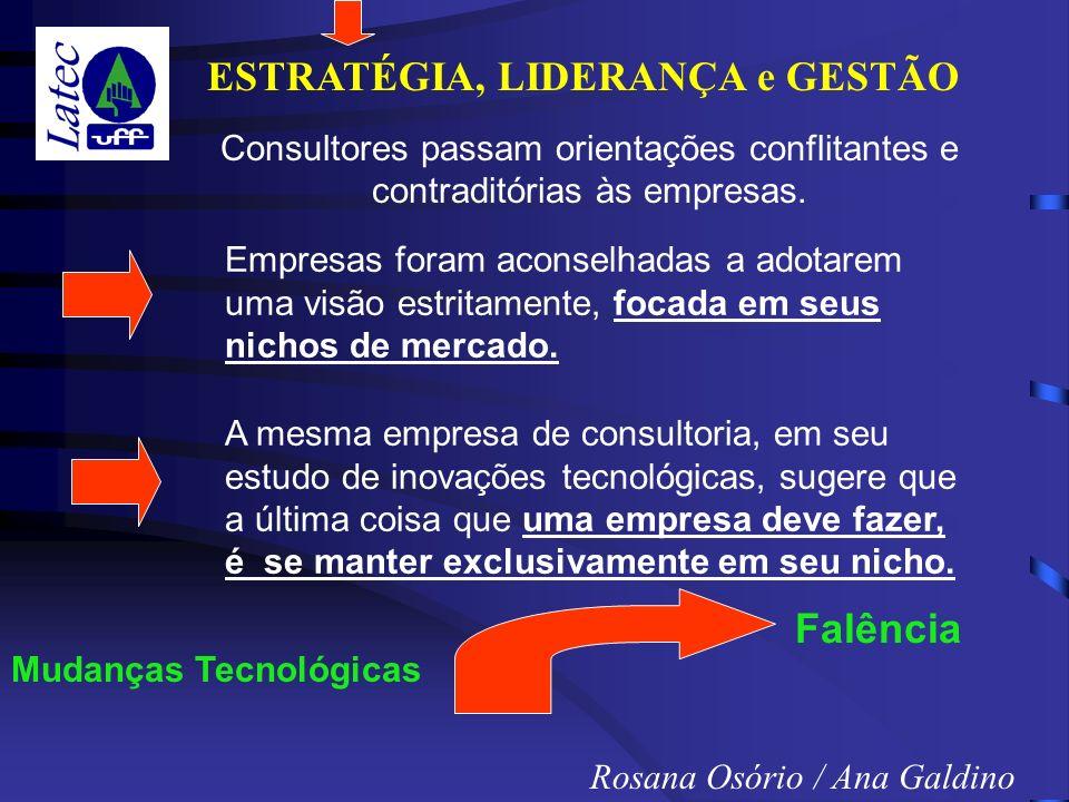 ESTRATÉGIA, LIDERANÇA e GESTÃO Rosana Osório / Ana Galdino Consultores passam orientações conflitantes e contraditórias às empresas.