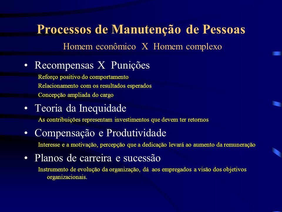 Manutenção dos Recursos Humanos Compensação (administração de salários) Plano de benefícios sociais Higiene e segurança do trabalho Relações sindicais