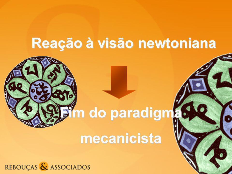 Reação à visão newtoniana Fim do paradigma mecanicista