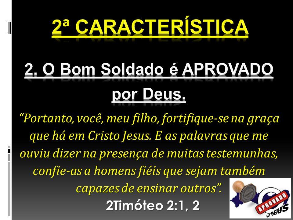 Portanto, você, meu filho, fortifique-se na graça que há em Cristo Jesus. E as palavras que me ouviu dizer na presença de muitas testemunhas, confie-a