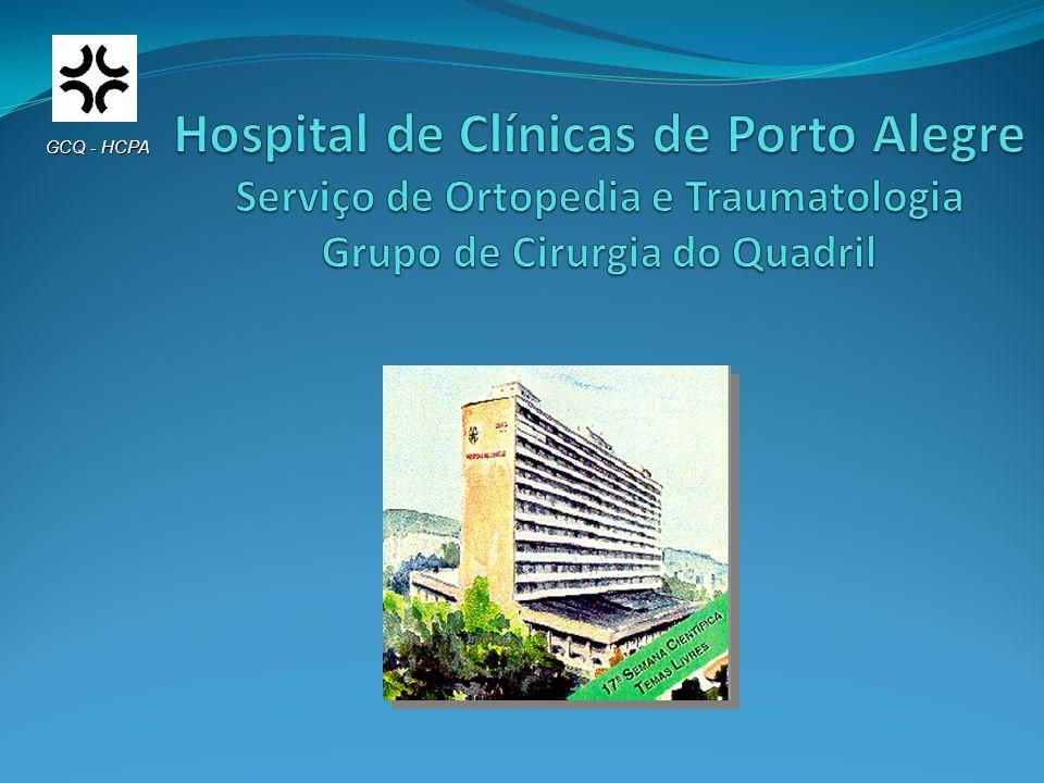 Introdução A diminuição do estoque ósseo é um obstáculo aos ortopedistas que se dedicam à cirurgia de Artroplastia Total do Quadril (ATQ) GCQ - HCPA