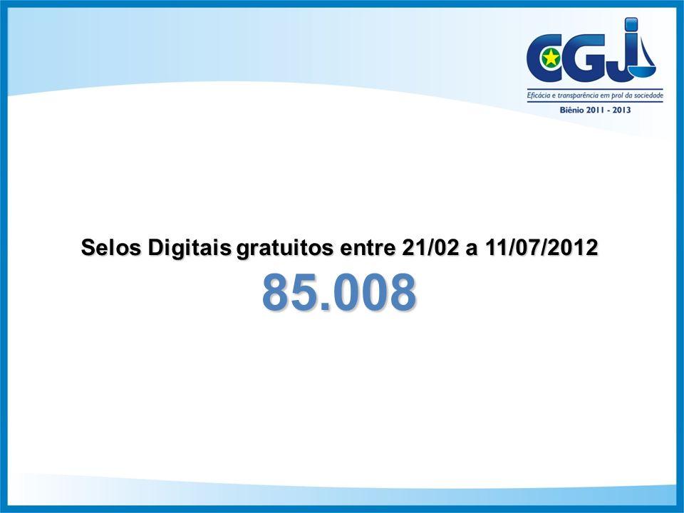 Selos Digitais gratuitos entre 21/02 a 11/07/2012 85.008