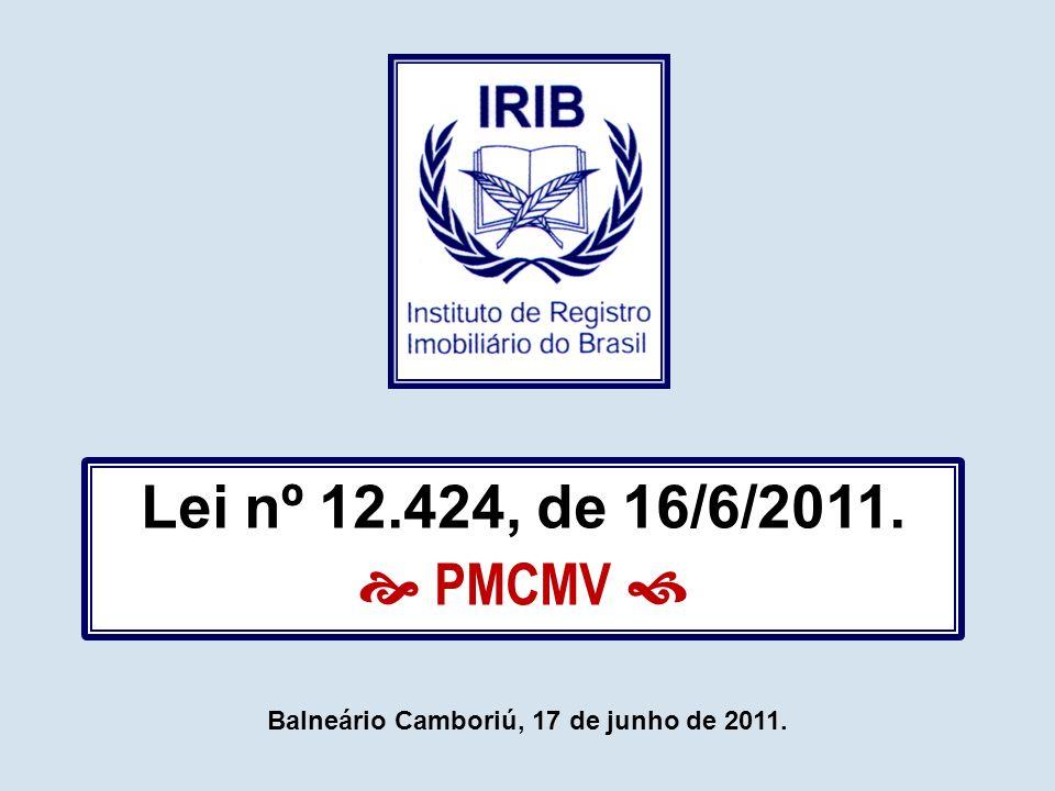 Lei nº 6.015/1973 (LRP) emolumentos § 1º.