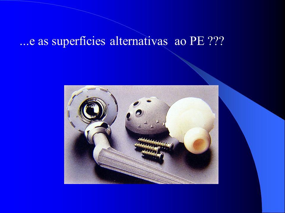 ...e as superfícies alternativas ao PE ???