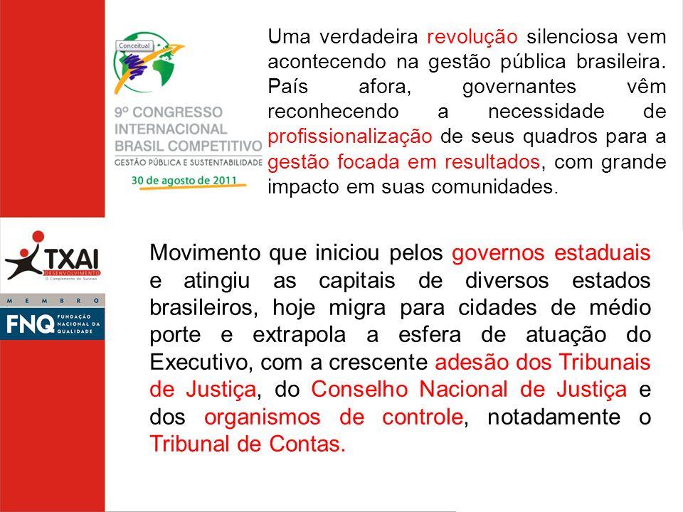 Uma verdadeira revolução silenciosa vem acontecendo na gestão pública brasileira. País afora, governantes vêm reconhecendo a necessidade de profission