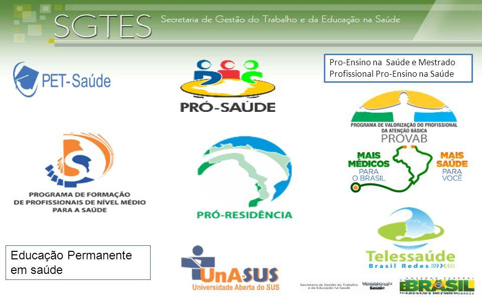 Educação Permanente em saúde Pro-Ensino na Saúde e Mestrado Profissional Pro-Ensino na Saúde