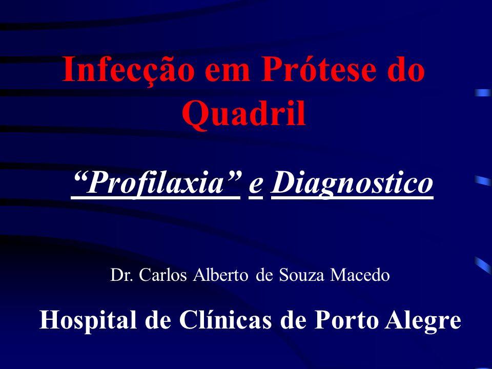 Infecção em Prótese do Quadril Profilaxia e Diagnostico Dr. Carlos Alberto de Souza Macedo Hospital de Clínicas de Porto Alegre