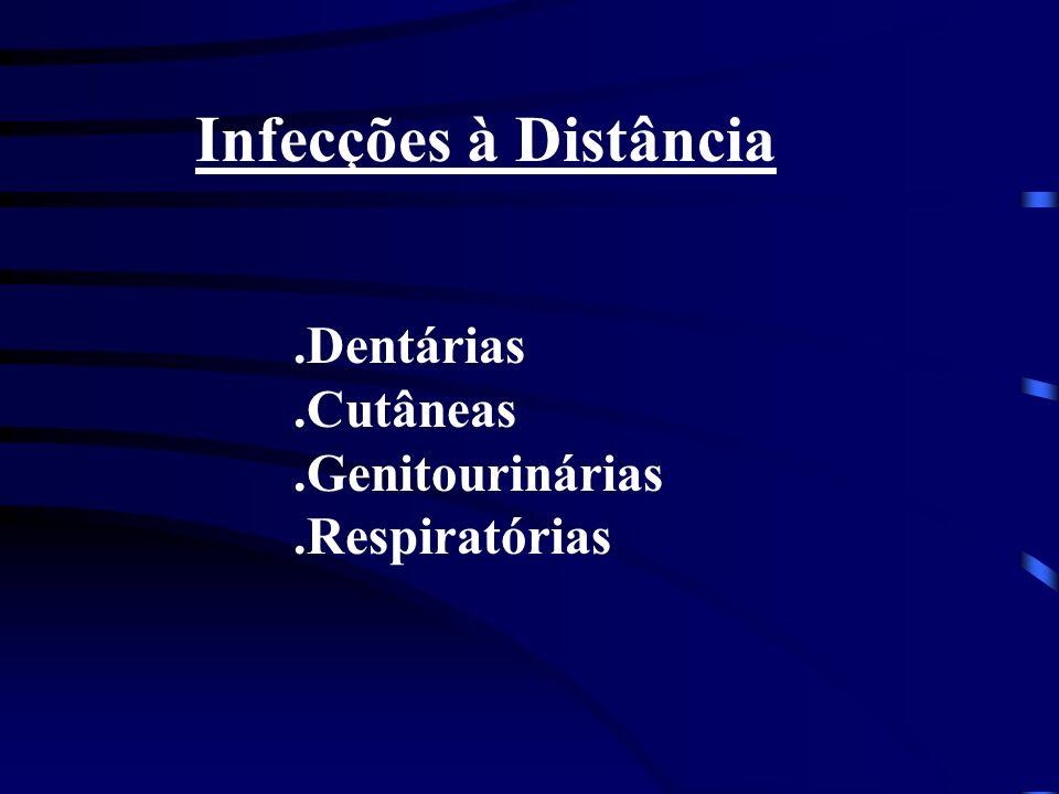 Infecções à Distância.Dentárias.Cutâneas.Genitourinárias.Respiratórias