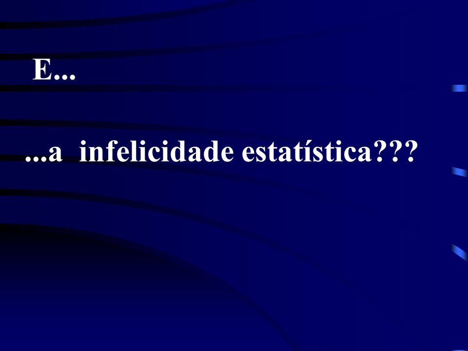 ...a infelicidade estatística??? E...