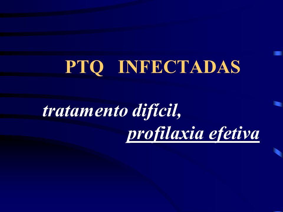 PTQ INFECTADAS tratamento difícil, profilaxia efetiva