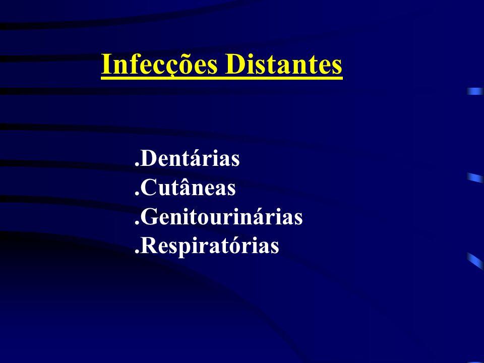 Infecções Distantes.Dentárias.Cutâneas.Genitourinárias.Respiratórias