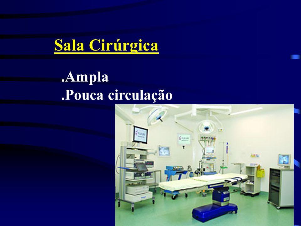 Sala Cirúrgica.Ampla.Pouca circulação