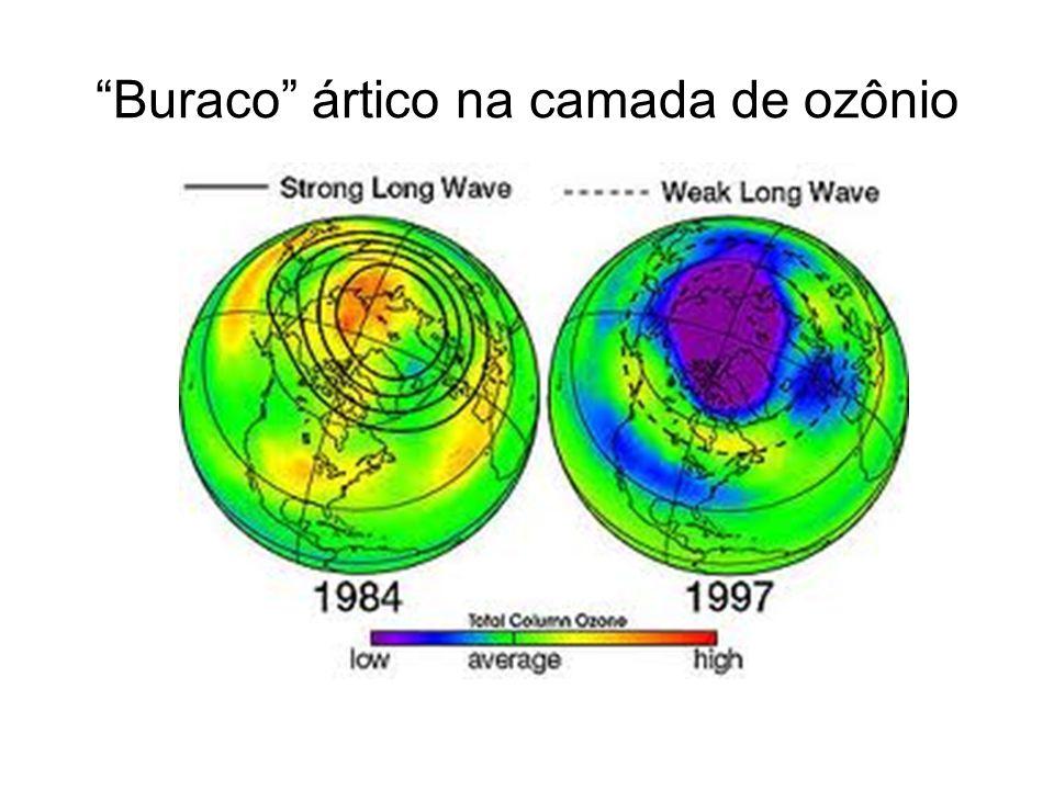 Buraco ártico na camada de ozônio