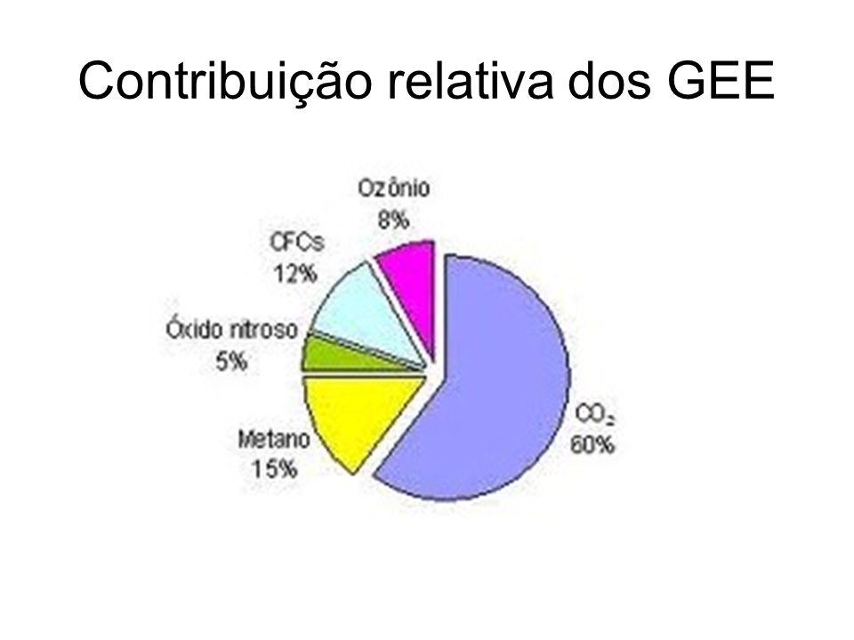 Contribuição relativa dos GEE