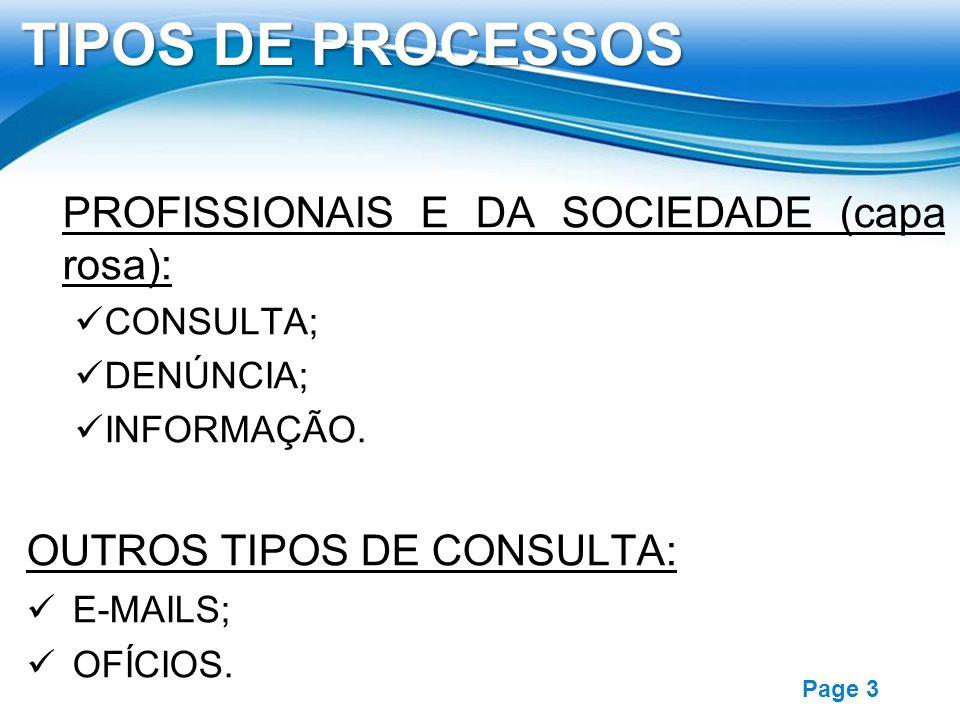 Free Powerpoint Templates Page 3 PROFISSIONAIS E DA SOCIEDADE (capa rosa): CONSULTA; DENÚNCIA; INFORMAÇÃO. OUTROS TIPOS DE CONSULTA: E-MAILS; OFÍCIOS.