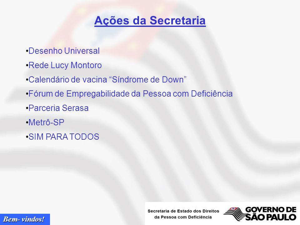 Bem- vindos! Secretária de Estado Linamara Rizzo Battistella Diretora do Instituto de Medicina de Reabilitação do Hospital das Clínicas da Faculdade d