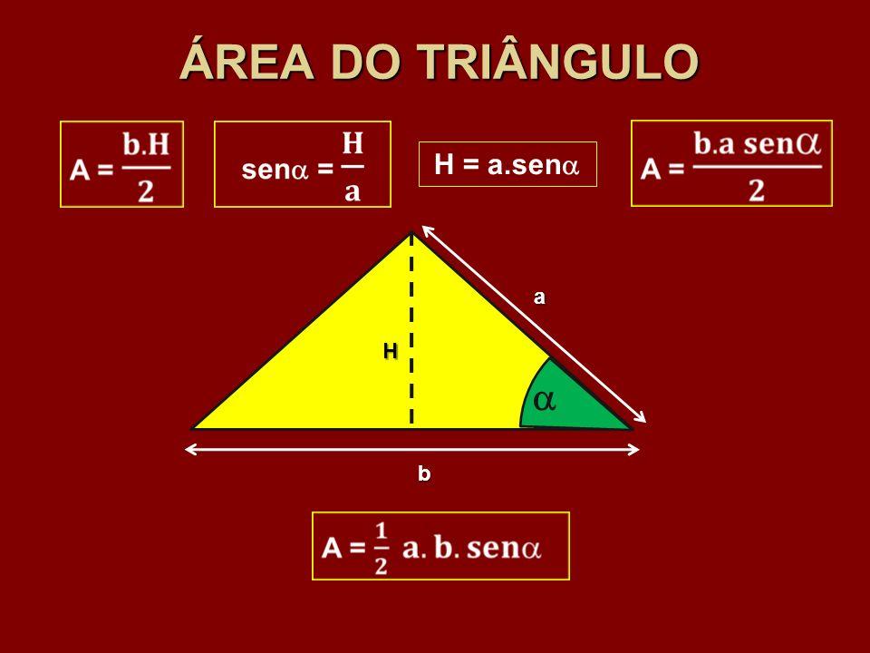 ÁREA DO TRIÂNGULO b H a H = a.sen