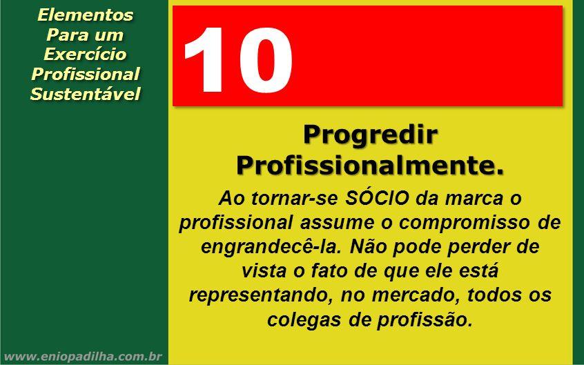 Elementos Para um Exercício Profissional SustentávelElementos Para um Exercício Profissional Sustentável 10 Progredir Profissionalmente. Ao tornar-se