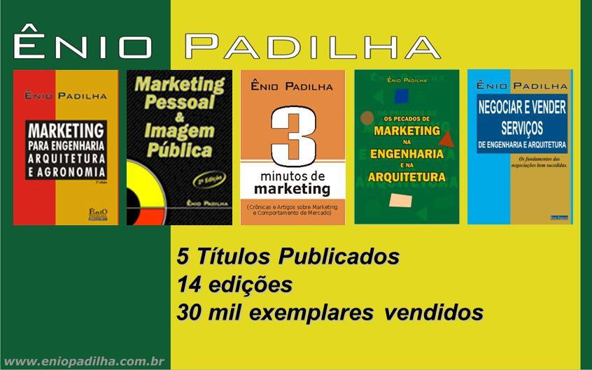 Cidades em que as palestras e cursos de Ênio Padilha já foram apresentados Porto Coimbra Lisboa Três vezes ou mais Duas Vezes Uma vez 26 estados + DF 165 cidades 480 eventos 16.500 profissionais