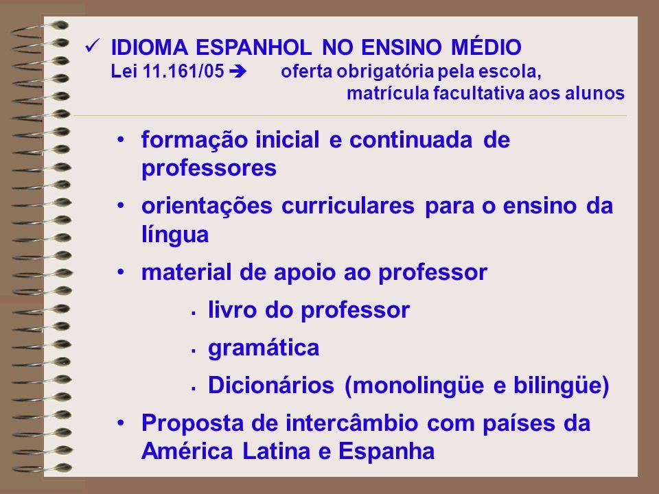formação inicial e continuada de professores orientações curriculares para o ensino da língua material de apoio ao professor livro do professor gramát