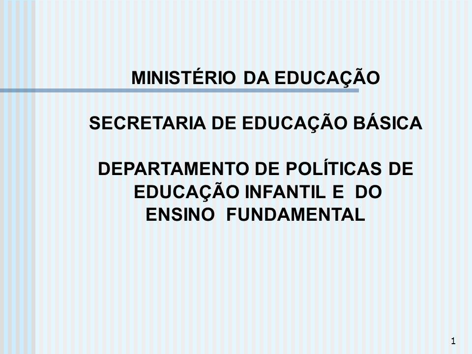 1 MINISTÉRIO DA EDUCAÇÃO SECRETARIA DE EDUCAÇÃO BÁSICA DEPARTAMENTO DE POLÍTICAS DE EDUCAÇÃO INFANTIL E DO ENSINO FUNDAMENTAL
