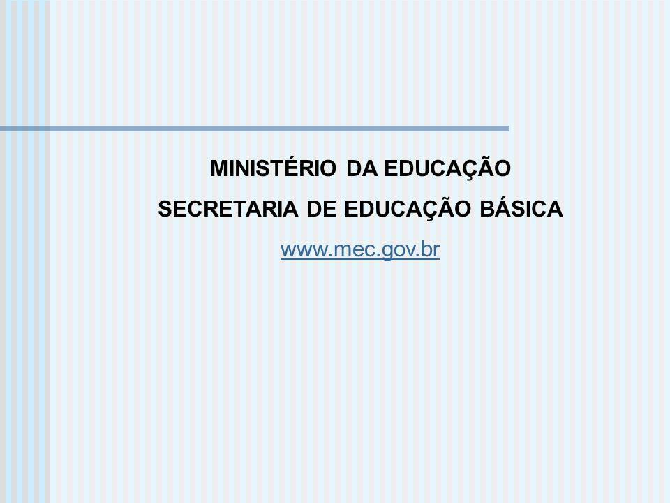 MINISTÉRIO DA EDUCAÇÃO SECRETARIA DE EDUCAÇÃO BÁSICA www.mec.gov.br