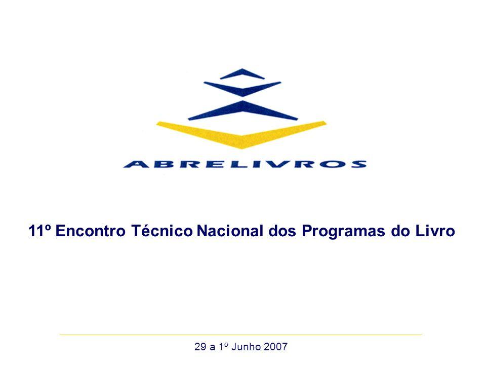 29 a 1º Junho 2007 11º Encontro Técnico Nacional dos Programas do Livro