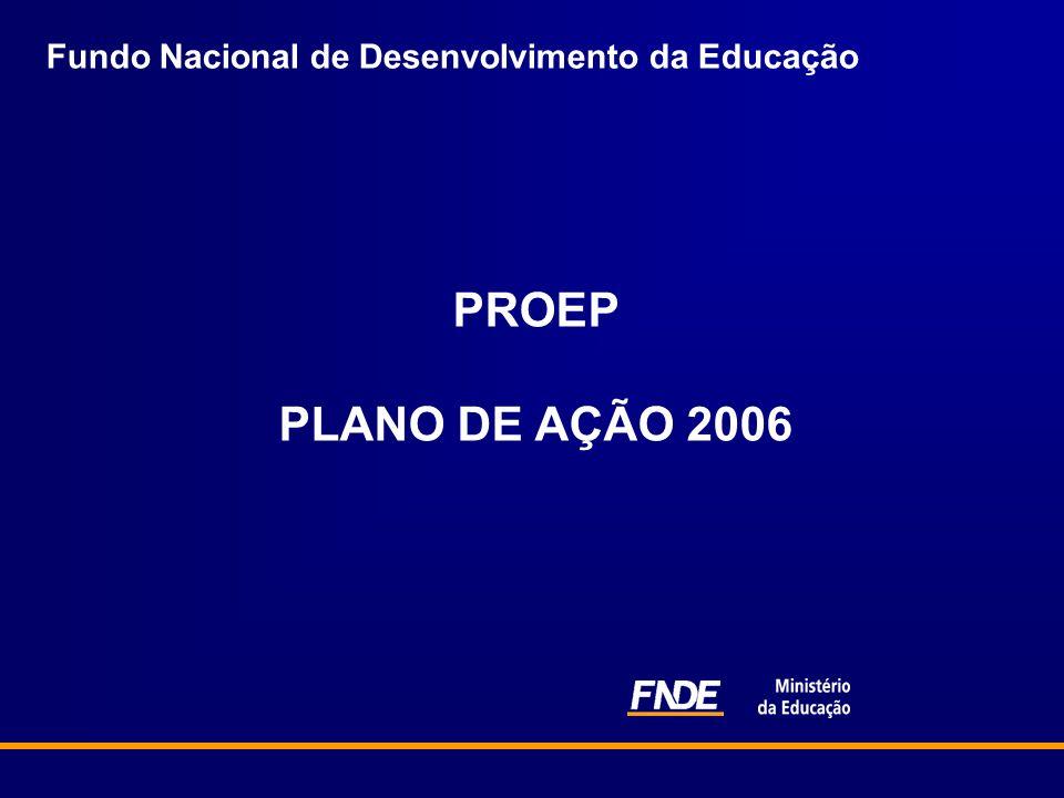 Fundo Nacional de Desenvolvimento da Educação PROEP PLANO DE AÇÃO 2006