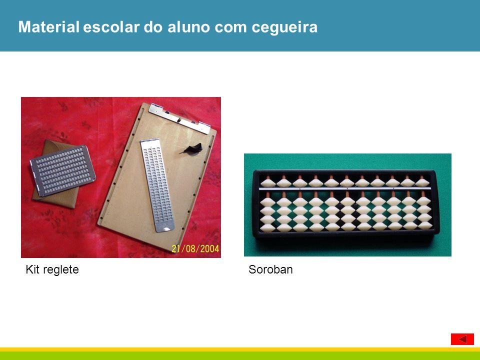 Material escolar do aluno com cegueira Kit regleteSoroban