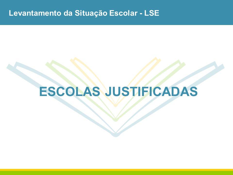 Levantamento da Situação Escolar - LSE ESCOLAS JUSTIFICADAS