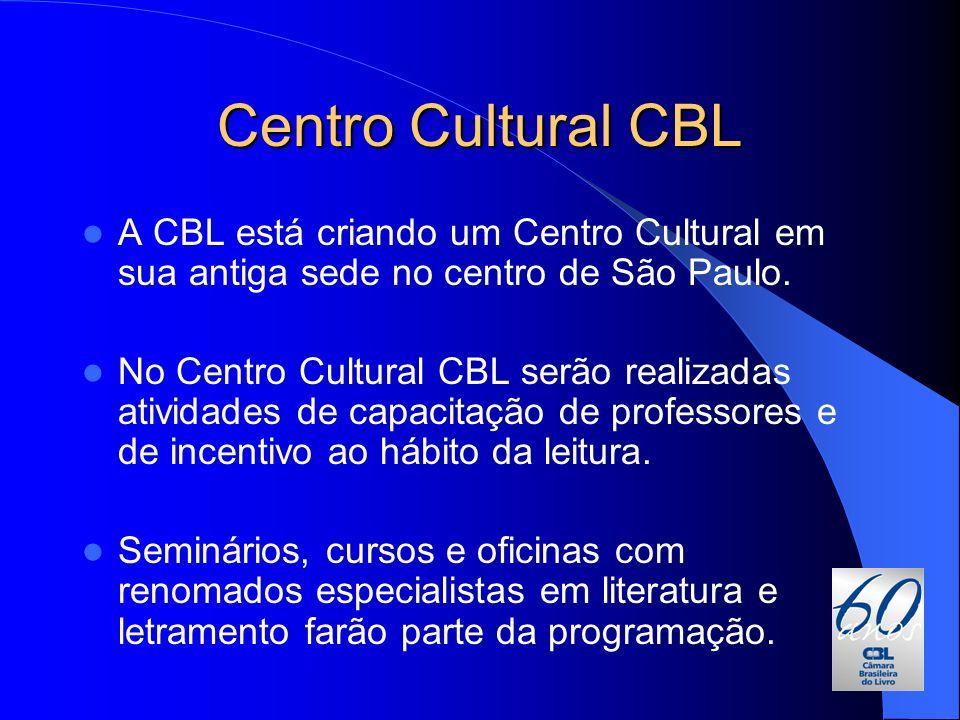 Centro Cultural CBL A CBL está criando um Centro Cultural em sua antiga sede no centro de São Paulo. No Centro Cultural CBL serão realizadas atividade