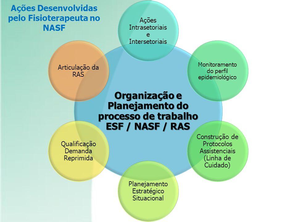 Organização e Planejamento do processo de trabalho ESF / NASF / RAS Ações Intrasetoriais e Intersetoriais Monitoramento do perfil epidemiológico Const