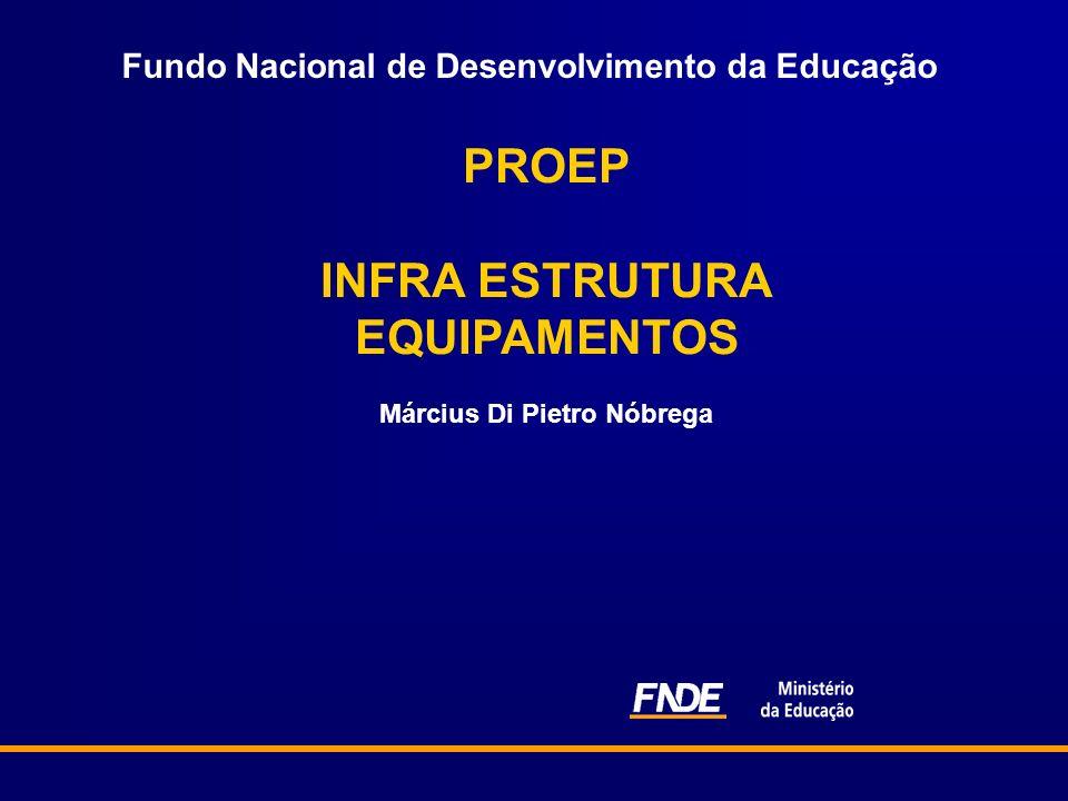 Fundo Nacional de Desenvolvimento da Educação PROEP INFRA ESTRUTURA EQUIPAMENTOS Március Di Pietro Nóbrega
