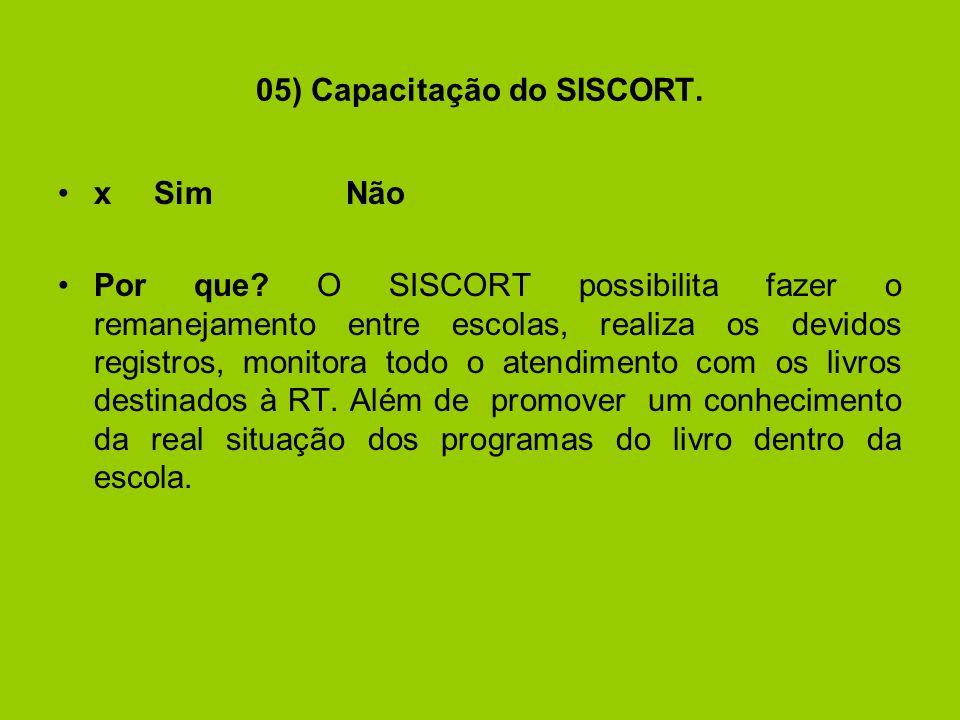 05) Capacitação do SISCORT.xSimNão Por que.
