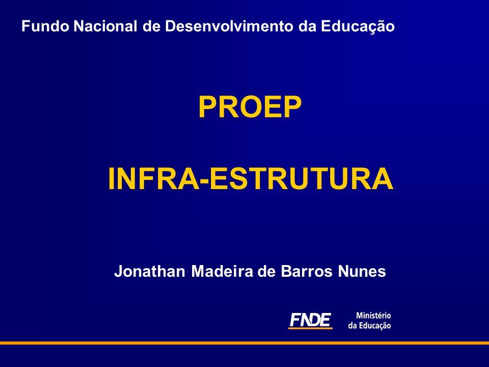 Fundo Nacional de Desenvolvimento da Educação PROEP INFRA-ESTRUTURA Jonathan Madeira de Barros Nunes