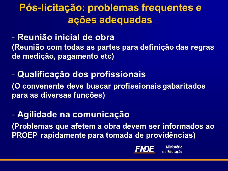 Pós-licitação: problemas frequentes e ações adequadas - Reunião inicial de obra (Reunião com todas as partes para definição das regras de medição, pag