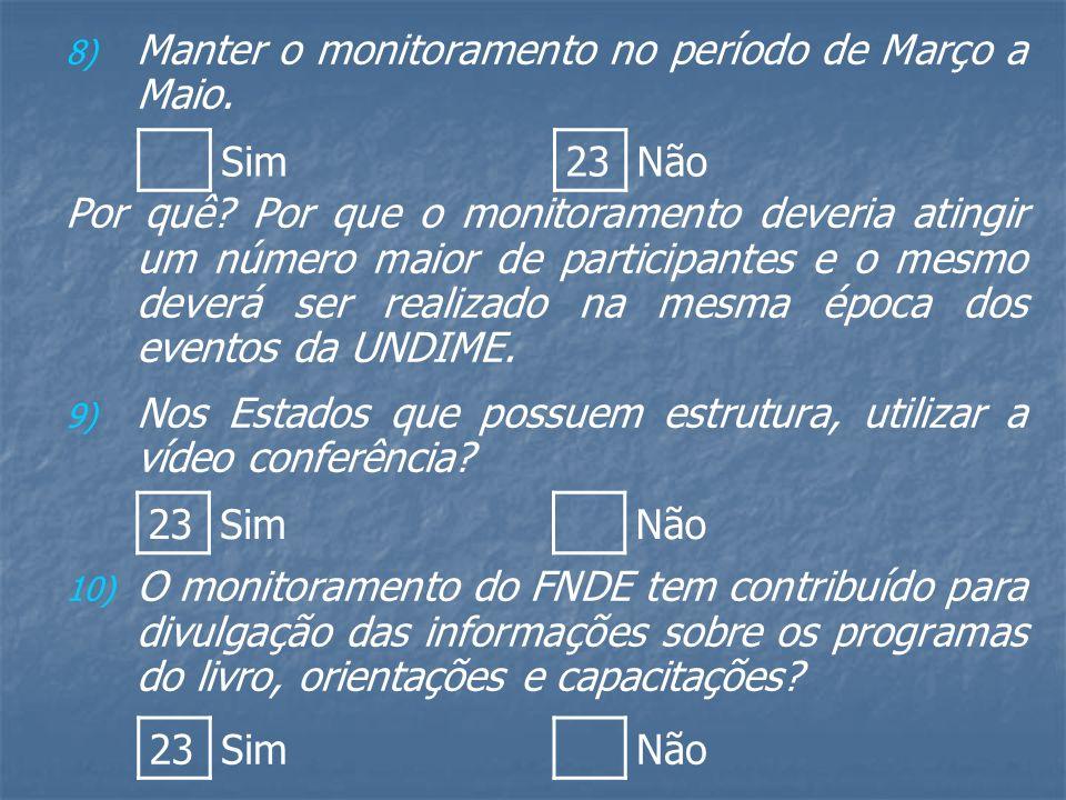 8) 8) Manter o monitoramento no período de Março a Maio.
