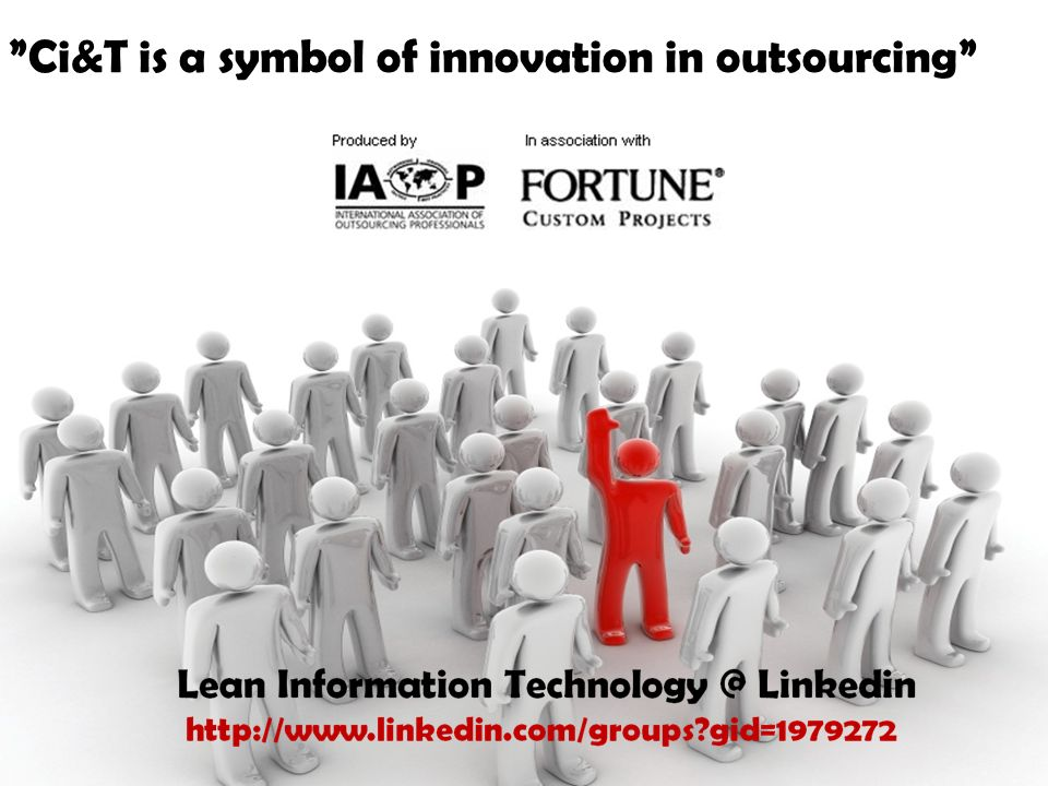 Obrigado! Ci&T is a symbol of innovation in outsourcing