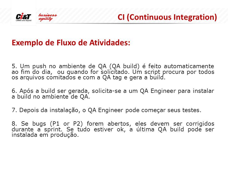 CI (Continuous Integration) Exemplo de Fluxo de Atividades: 5.