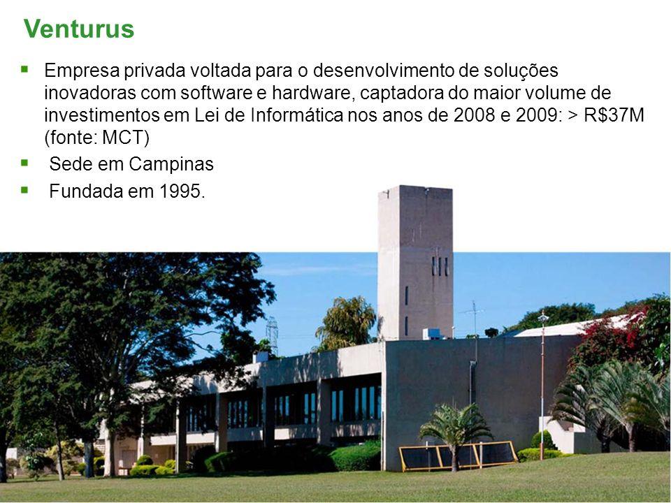 Prepared by: Marcelo Abreu Venturus Empresa privada voltada para o desenvolvimento de soluções inovadoras com software e hardware, captadora do maior