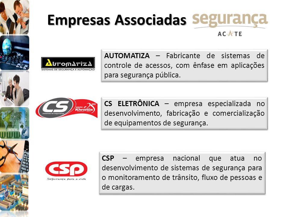 AUTOMATIZA – Fabricante de sistemas de controle de acessos, com ênfase em aplicações para segurança pública. CS ELETRÔNICA – empresa especializada no